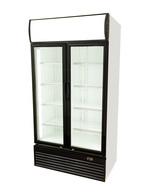 GCDC800EWW - Refrigerador de visor com propaganda - porta em aço inoxidável