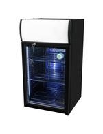 GCDC50 - Refrigerador com propaganda para balcão - exterior e interior preto