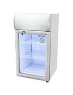 GCDC50 - Refrigerador com propaganda para balcão - prateado