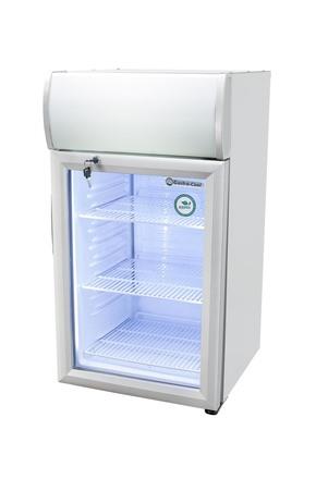 GCDC50 - ThekenWerbekühlschrank - Silber