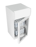 GCDC50 - ThekenWerbekühlschrank - Weiß