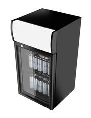 GCDC70 - Refrigerador com propaganda para balcão - interior e exterior preto