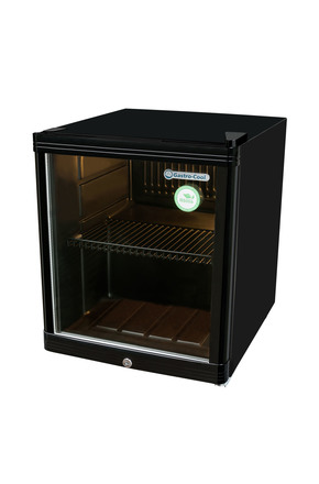 GCKW50 - KühlWürfel - Glass door fridge - 46 liters - black