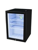 GCKW65 - KühlWürfel L - Flaschenkühlschrank - außen Schwarz, innen Weiß