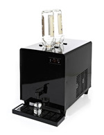 GCSD3 - Spirits/ Liquor-Dispenser - black- 1,8 liters - with bottles