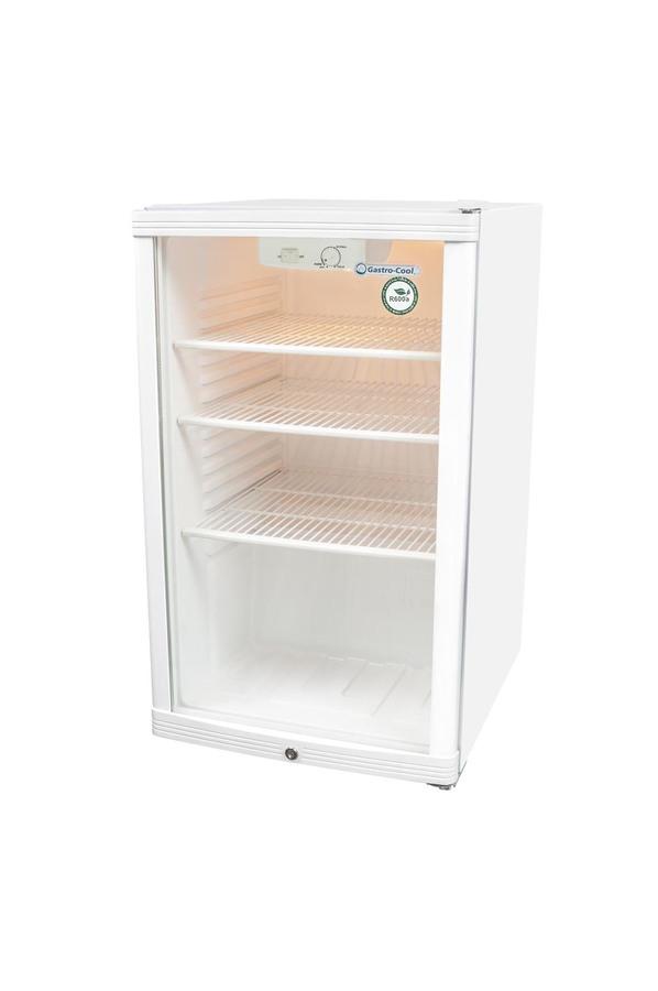Glastürkühlschrank - weiß - GCGD150 – Gastro-Cool