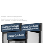 GCDC350 - Refrigerador de visor para propaganda - preto/branco – acessório topo luminoso impresso