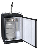 GCBK160 - Beercooler - stainless steel front – with keg and mounted dispenser set