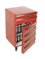 GCCT50-2 - Cool-Tool two drawers open / WorkshopTrolley-Cooler
