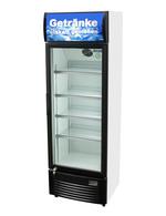 Getränkekühlschrank / Flaschenkühlschrank mit Werbedisplay