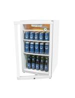 Kühlschrank in weiß mit Glastür