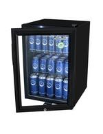 Kühlschrank mit LED-Beleuchtung schwarz