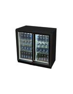 Kühlschrank für den Unterthekenbereich in schwarz