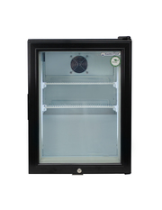 Mini freezer with glass door - black