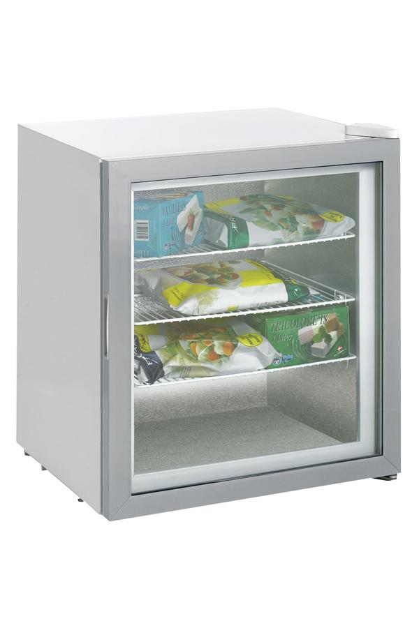 Kleiner weißer Glastürgefrierschrank - GCGW76 – Gastro-Cool