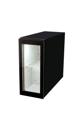 Small glass-doored POS refrigerator