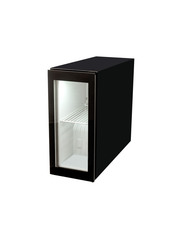Small glass-doored POS refrigerator