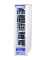 Schmaler Glastürkühlschrank in weiß