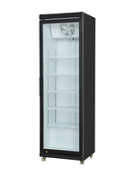 Commercial fridge with glass door