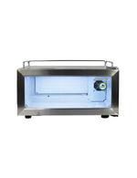 Glastürkühlschrank - flach - Edelstahl