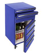 Blauer Kühlschrank für Werkstatt und Hobbyraum