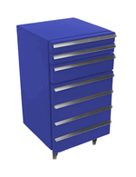 Cool-Tool with 3 drawers in blue