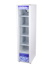 Glass door cooler white and narrow