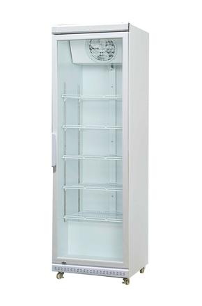 Glastür-Gewerbe-Kühlschrank weiß