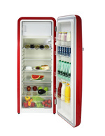 Vintage Industries - red Retro fridge-freezer