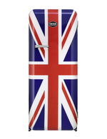Vintage Industries - Retro Refrigerator with Union Jack Design