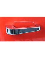 Red retro refrigerator chrome-plated door handle