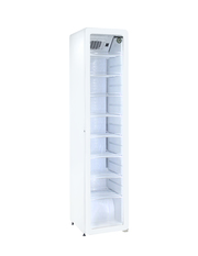 Narrow retro refrigerator with glass door - GCGD175