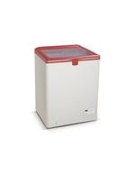 Steckerfertige Flaschenkühltruhe mit Glasdeckel - GCFC100 - weiß/rot
